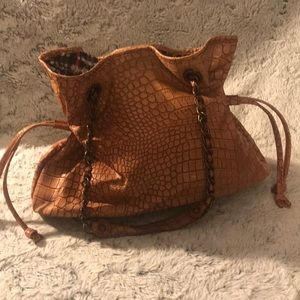 Light Orange Crocodile Purse